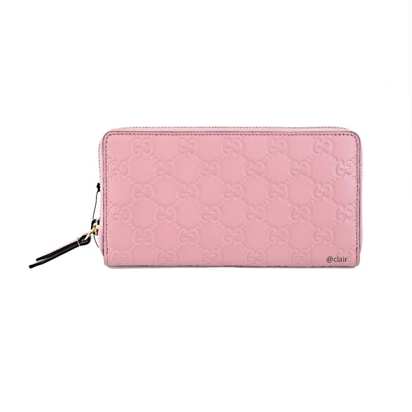 Gucci Handbags - Gucci GG Signature Leather Zip Around Wallet